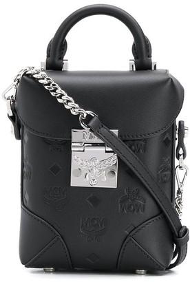 MCM Embossed Monogram Bucket Bag