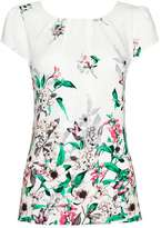 Wallis Cream Floral Meadow Shell Top