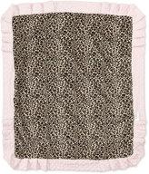 Swankie Blankie Cheetah-Print Receiving Blanket