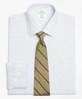 Brooks Brothers Milano Slim-Fit Dress Shirt, Non-Iron Alternating Check