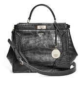 GUESS Georgie Crocodile-Embossed Satchel