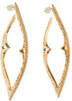 Mizuki 14K Diamond Quill Earrings