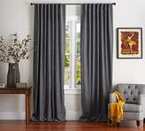 Pottery Barn Emery Linen/Cotton Pole-Pocket Drape - Charcoal