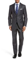 David Donahue Men's Ryan Classic Fit Plaid Wool Suit