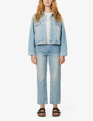 Boyish The Harvey cropped organic-denim jacket