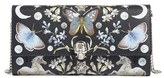 Alexander McQueen Women's Nocturnal Print Leather Wallet On A Chain - Black