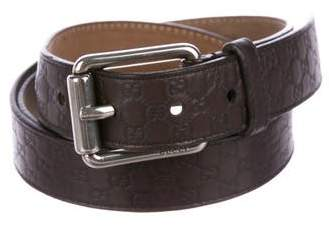 Gucci Guccissima Leather Skinny Belt