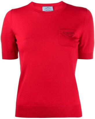 Prada logo print short-sleeved jumper