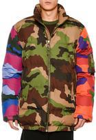 Moschino Multi-Camouflage Puffer Jacket