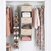 Pottery Barn Teen Extra Wide Closet Storage Set Hanging Closet Organizer, Linen