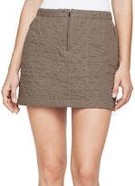 BCBGMAXAZRIA Diamond-Quilted Mini Skirt