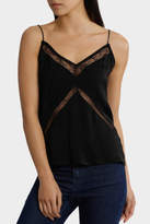 GUESS NEW Sleeveless Libby Scribble Lace Cami Black