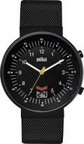 Braun Men's Quartz Watch with Black Dial Analogue Display and Black Stainless Steel Strap BN0087BKBKMHG