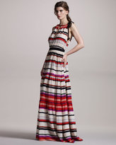 Derek Lam 10 Crosby Striped Halter Maxi Dress
