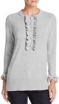 Tory Burch Emily Ruffle Cashmere Sweater