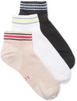 Hue Women's 3-Pk. Air Sleek Mesh Low-Rider Socks