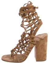 Alumnae Knotted Cage Sandals