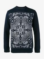 White Mountaineering Bandana Print Cotton Sweatshirt