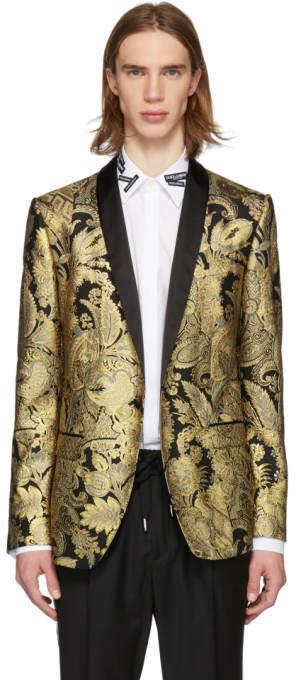 Dolce & Gabbana Black and Gold Lurex Blazer