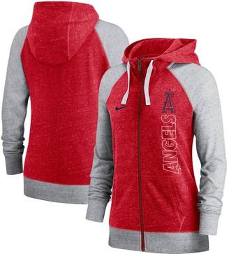 Nike Women's Red Los Angeles Angels In Pocket Gym Vintage Full-Zip Hoodie