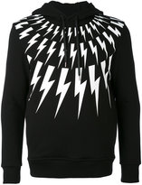 Neil Barrett lightning bolt hoodie - men - Lyocell - S