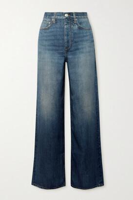 rag & bone - Miramar Printed Tencel Lyocell Straight-leg Pants - Blue