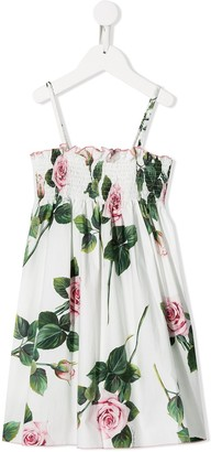 Dolce & Gabbana Kids Rose Print Dress