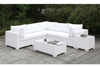 Rosecliff Heights Corner 8 Piece Deep Seating Group with Cushions