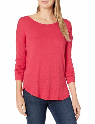 Splendid Women's Long Sleeve Super Soft Easy Crewneck Tee