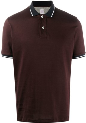 Eleventy Stripe Detail Short-Sleeved Polo Shirt