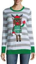 TIARA INTERNATIONAL Tiara Reindeer Crew Neck Sweater