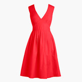J.Crew V-neck A-line dress in faille