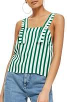 Topshop Stripe Button Camisole