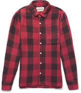 Remi Relief Checked Flannel Shirt - Red