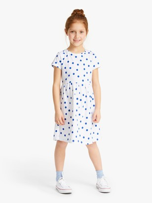 John Lewis & Partners Girls' Spot Print Dress