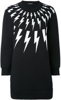 Neil Barrett lightning bolt sweatshirt - women - Cotton/Spandex/Elastane/Lyocell/Viscose - XS