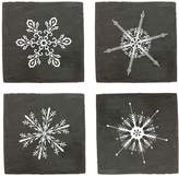 Twine Rustic Holiday Snowflake Coasters (Set of 4)