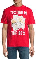 NOVELTY PROMOTIONAL Vintage TExting Short-Sleeve Graphic T-Shirt