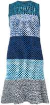 Derek Lam 10 Crosby Sleeveless Colorblocked Gradient Knit Dress
