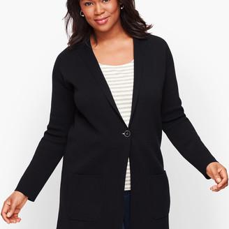Talbots Patch Pocket Sweater Blazer