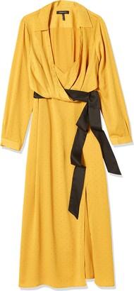 BCBGMAXAZRIA Women's Long Sleeve Midi Dress