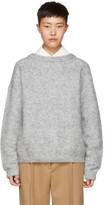 Acne Studios Grey Mohair Dramatic Sweater