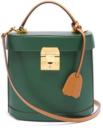 Mark Cross Benchley Saffiano-leather Shoulder Bag - Womens - Green Multi