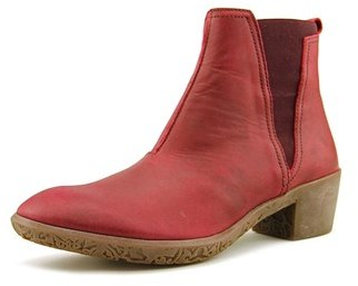 El Naturalista Ng13 Women Round Toe Leather Burgundy Ankle Boot.