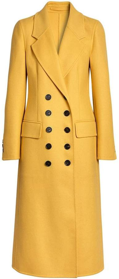 Burberry Double-breasted Cashmere Tailored Coat