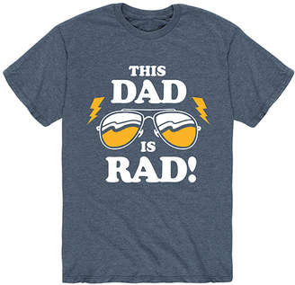 Instant Message Mens Men's Tee Shirts HEATHER - Heather Blue 'This Dad Is Rad' Tee - Men