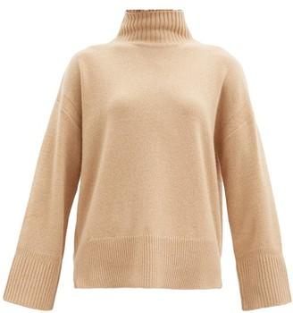Frame High-neck Cashmere Sweater - Beige