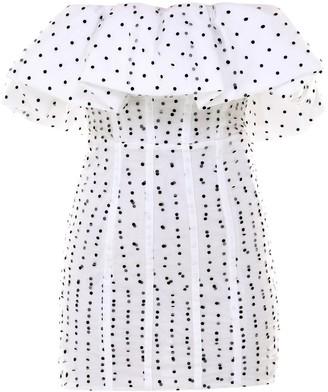 Self-Portrait Polka-Dot Ruffled Dress