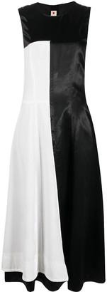 Marni Striped-Panel Wrap Dress