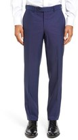 Ted Baker Jefferson Flat Front Solid Wool Trousers